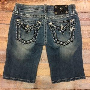 Miss me jean shorts bermuda size 26